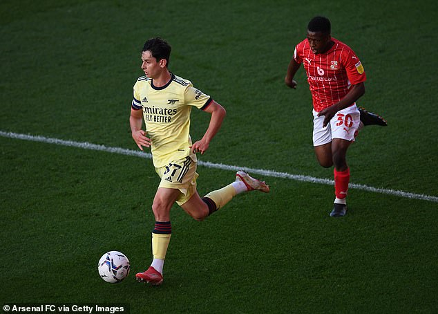 A video of midfielder Patino, 17, (left) impressing for Arsenal's Under-23s went viral this week